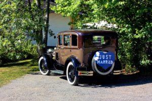 décoration de voiture pour le mariage mariage